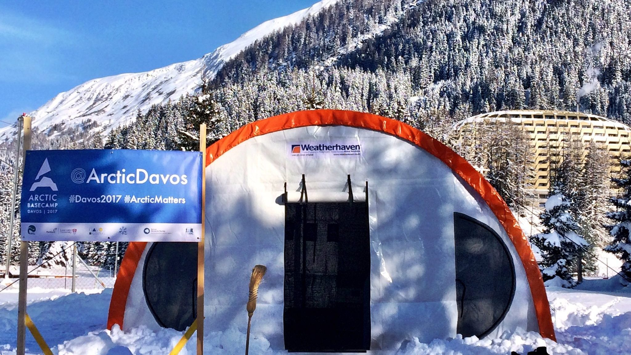 Series 4 Polar shelter at Davos